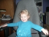 In Papa\'s chair.