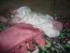 Weird sleeping baby.