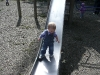 No standing on the slide.
