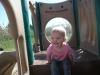 LiliBee contemplates the slides.