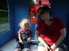 Mama and LiliBee on the circus train.