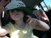 In Papa\'s hat.