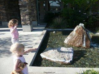 Fountain gazing.