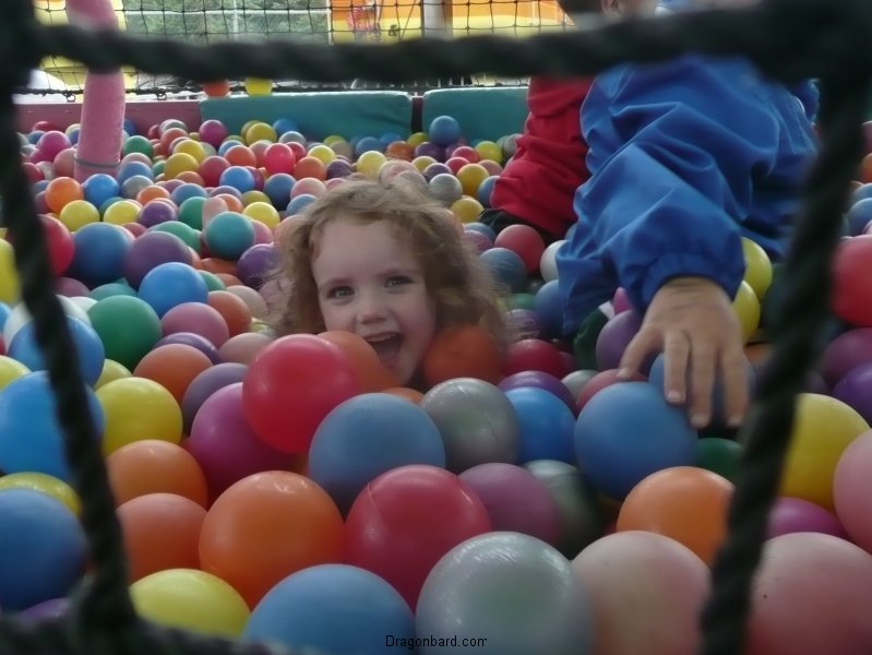 CareBear loved the ball pit.