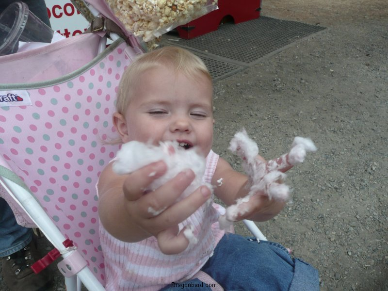 Lilibee didn\'t eat the cotton candy.