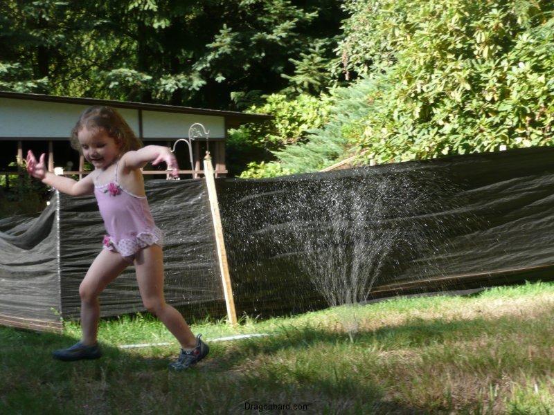 Sprinkler dance!