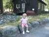 LiliBee on a rock.
