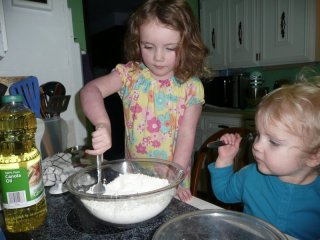 Muffin making.