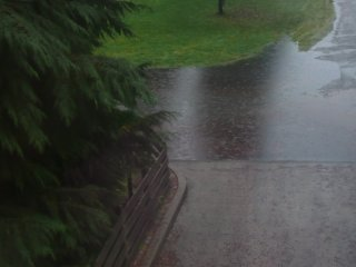 The street floods.