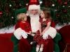 Chatting with Santa.