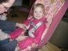 LiliBee gets a new car seat.