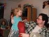 Papa checks out his stocking.