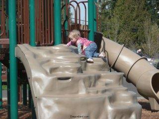 Climbing LiliBee.