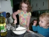Muffin making.