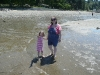 Mama and CareBear wading.