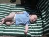 Sleeping in the sun.