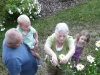 Picking flowers with Grams and Pas.