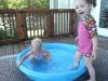 Pool time at Grams.
