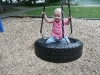 LiliBee gets the tire swing all to herself.