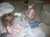 The kids make a mess.