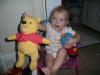 Then she shows us Pooh Bear.