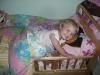 LiliBee\'s little girl bed.