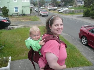 LiliBee and Mama head out for a walk.