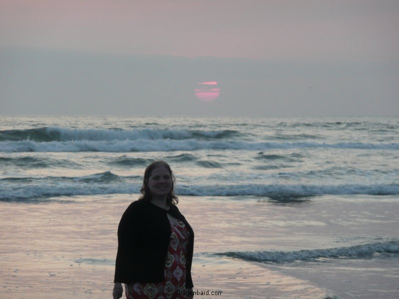 Amy at sunset.