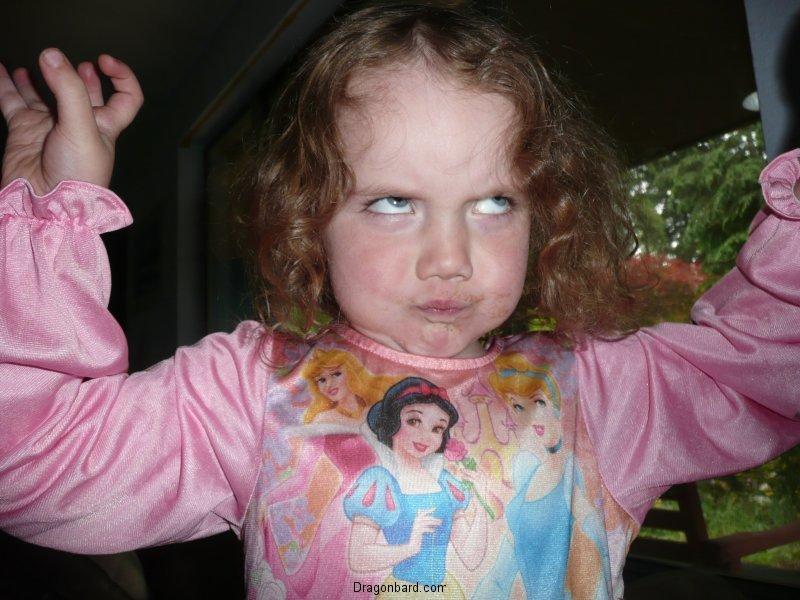 "CareBear makes a \""scary face\""."
