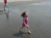 Runs with sand.