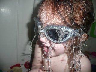 Goggle girl.