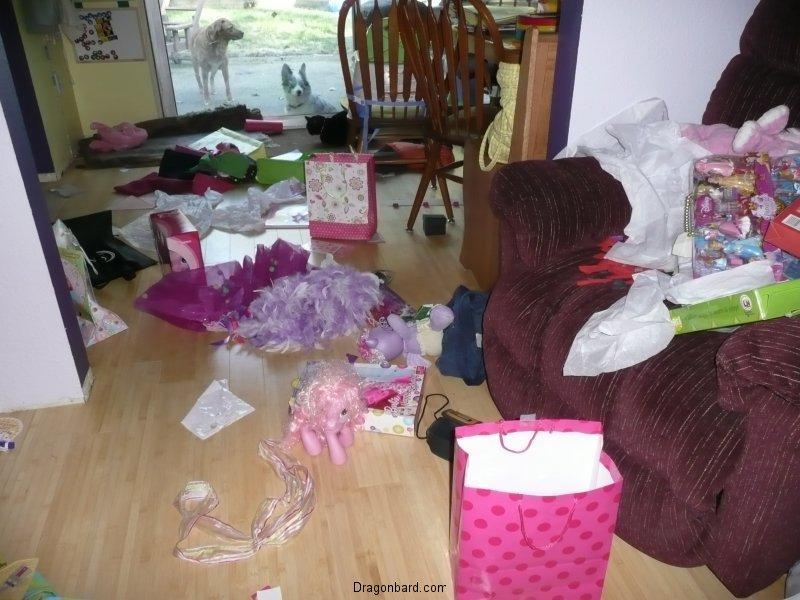 Birthday aftermath.