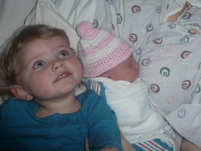 LiliBee is a big sister!