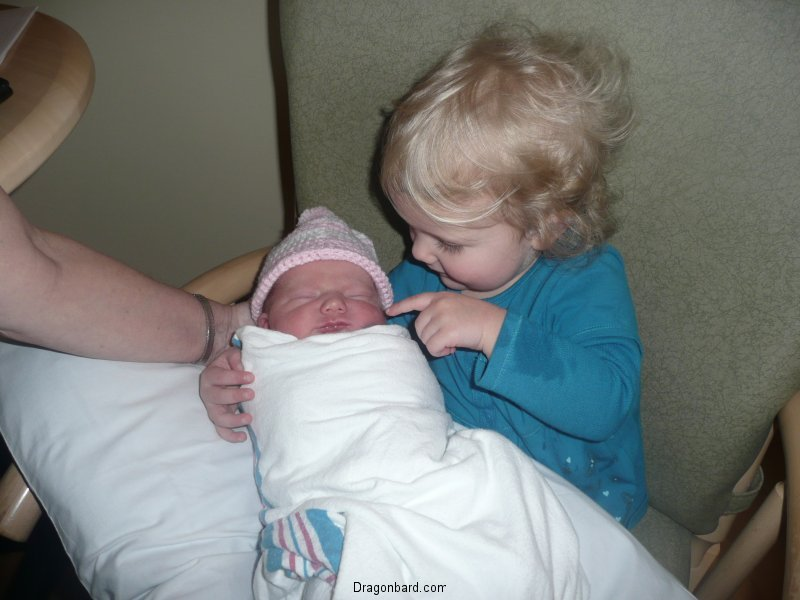 Meeting the little sister.