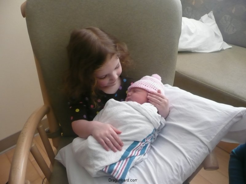 CareBear meets the newest little sister.