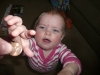 LiliBee wants to eat the penny.