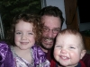 Chris and the little princesses.