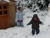 CareBear and LiliBee like the snow.