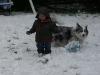 LiliBee and Maisy play.