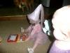Reading with Princess CareBear.