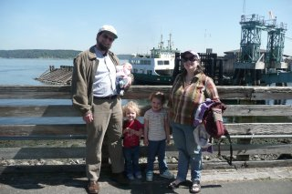 Family photo with the ferry.