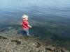 LiliBee wading.