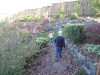 Walking in Grams\' garden.