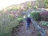 Walking in Grams\' garden.