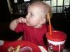 LiliBee enjoys her lunch.