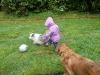 Big Ball in the rain!