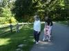 Wandering at the park.