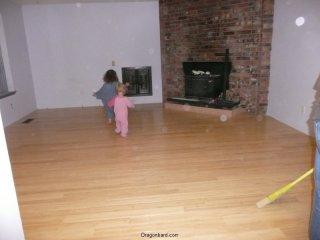 Living room floor.