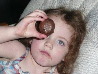 CareBear and the chocolate.