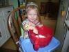 LiliBee makes a cake.